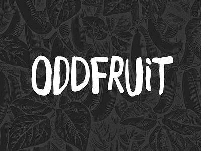 Oddfruit Logo oddfruit identity logo logotype white black handwritten