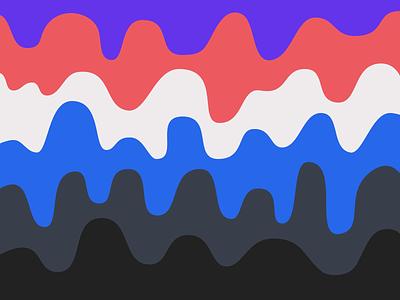 Waves waves blue grey white purple red black colors exploration