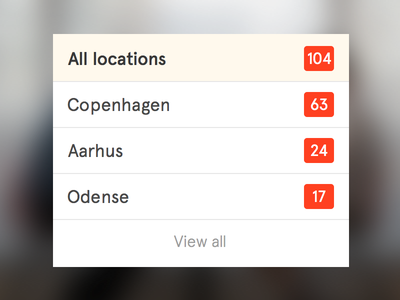 Location filter apercu selected filtering filter list location white ui webdesign