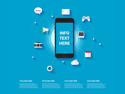 Smartphone infographic template