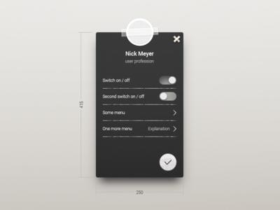 UI challenge - User settings #007 +PSD bluepring sketch ui ux user settings 007 uichallenge dailyui