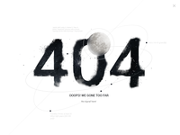 UI challenge - 404 page #008 +PSD