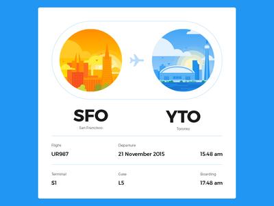 UI challenge - Boarding pass #024 dailyui uichallenge travel plane flight info card pass boarding