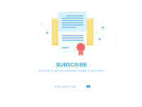UI challenge - Subscribe #026
