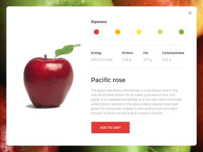UI Challenge - Customize Product #033 fruit cart info uichallenge dailyui apple