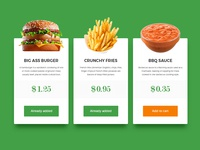 UI Challenge - Special Offer #036 036 uichallenge dailyui info price plates fastfood meal offer