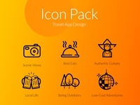 Icon Set for Travel App