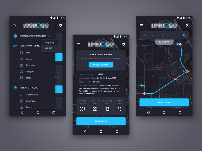 GPS Tracking App UI/UX by SkyNick on Dribbble