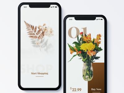 Handmade Flowers Ecommerce App | Mobile UI/UX Design