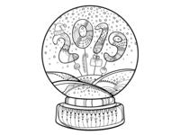 Coming soon. New Year's snow globe.