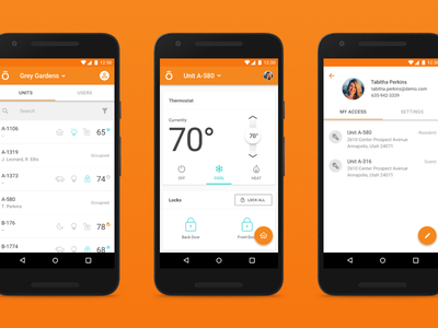 Dwelo Android app ux ui nexus material android mobile