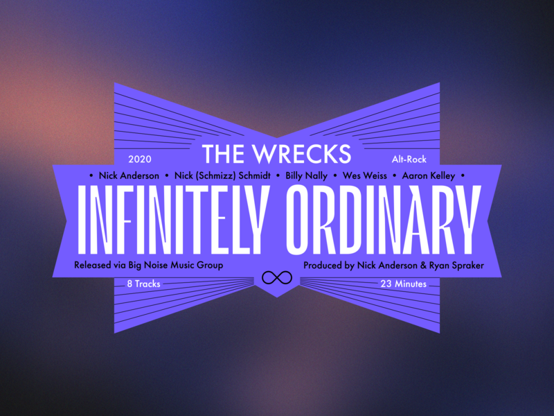 Infinitely Ordinary – Record Labels #005 infinitely ordinary indie rock indie alternative rock the wrecks typographic design typographic typography type layout type design sticker design sticker music layout label design label album art