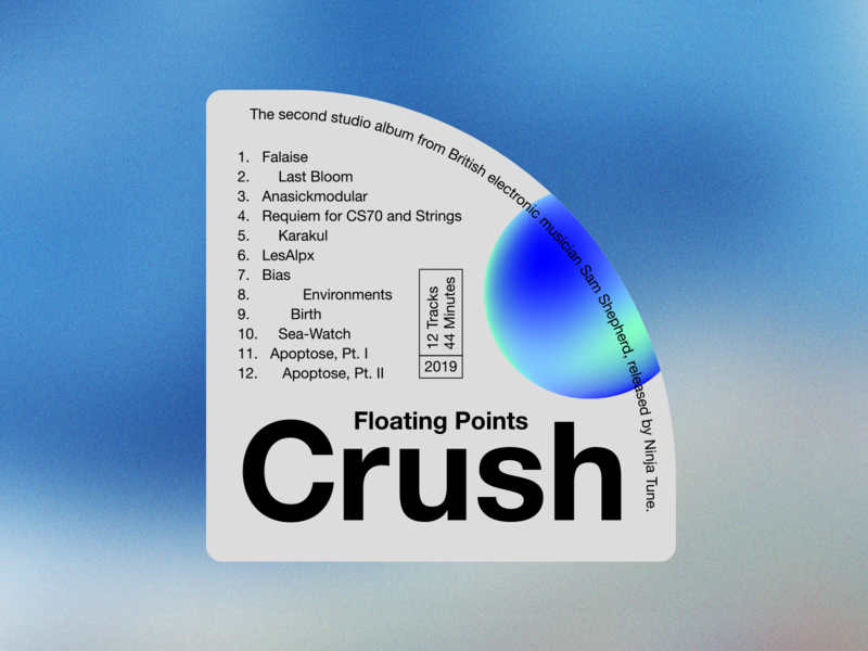 Crush –Record Labels #007 floating points typographic poster music design typographic layout type layout layout typography typographic type album art music sticker design sticker label design label