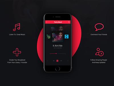 Music Player | Playroom App design interface user ux ui