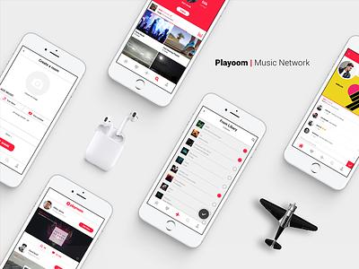 Playroom | Musical Network interface uiux design app