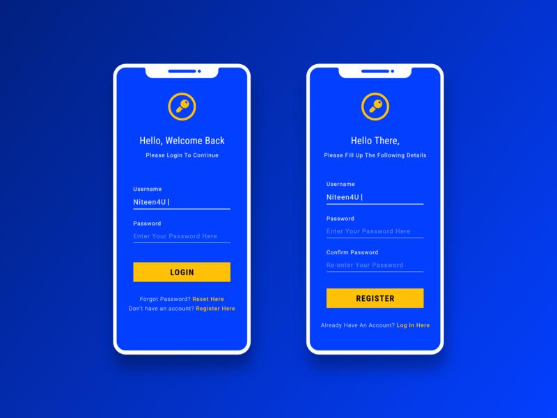 Minimal Sign In - Sign Up iphone blue mobile design mobile ui mobile app register login sign up signup sign in graphic design ui android app user experience design adobe xd