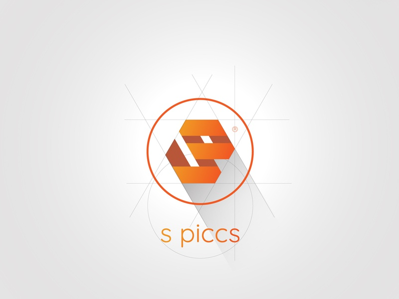 SP logo typography illustration icon web branding vector logo design