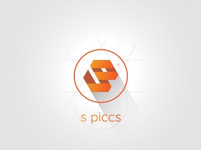 SP logo typography illustration icon web branding vector logo design