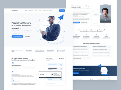 Landing page autenti fintech ux landing page website design web design page main page website minimal trending simple ui clean