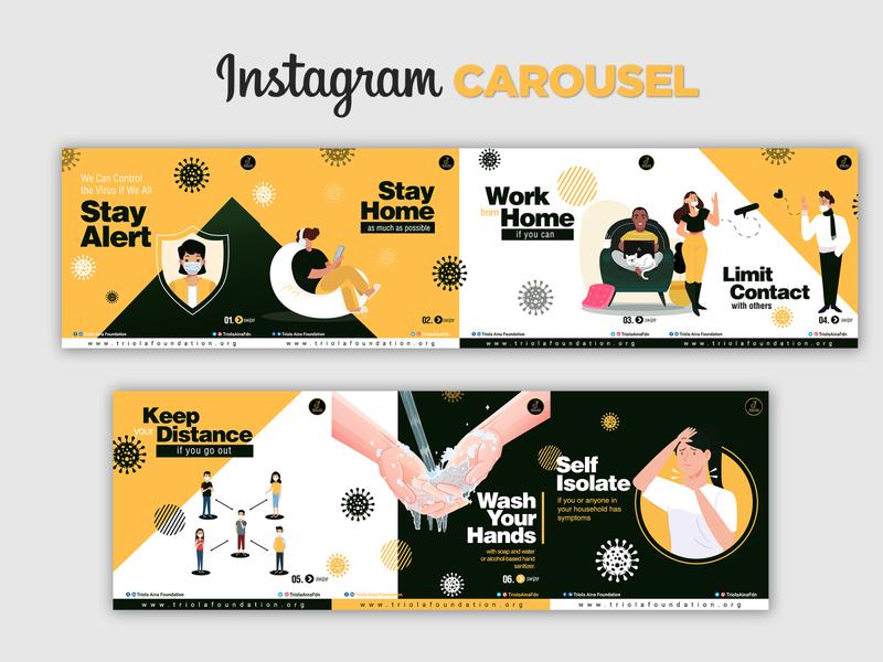 Instagram Carousel - COVID 19 creativity idea graphics eflyer flyer graphic design design coronavirus corona covid-19 covid19 covid
