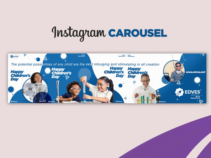 Instagram Carousel - Children's Day graphics branding design graphic design eflyer instagram template instagram post instagram