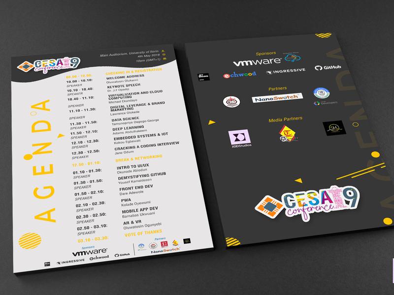 Agenda - CESA Conference design graphics graphic  design graphicdesign graphic design