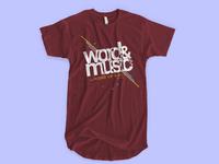 T-shirt design - Musical Concert
