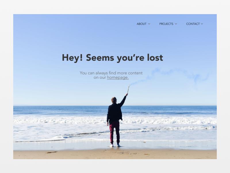 404 error page deisgn example #34: 404 page