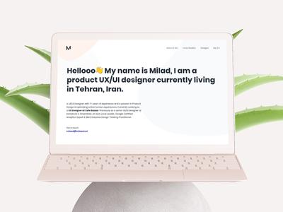 Milad – Product UX/UI Designer Website uidesign uxdesign landing ui ux