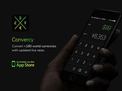 Convercy App – Product Design appicon mobilepp converter calculator exchange money currency application app design ux ui