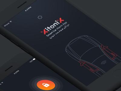 Smart Car Alarm Application – UI ui ux car alarm remote dark app application uidesign interface cars
