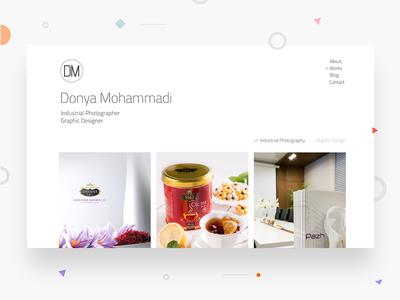 Freelance Photographer – DM photos gallery minimal uidesign website freelance photography kitchen ux ui
