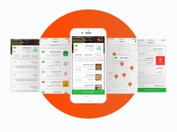 Food delivery application – Screens