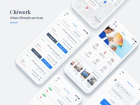 Chiwork – Urban lifestyle services Mobile App Design