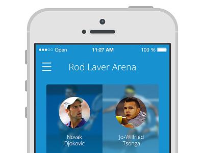 Australian Open 2014 app ui ux app tennis photoshop interface australian open