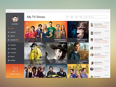 My TV Shows tv shows series photoshop interface paris france