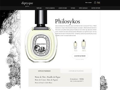 Diptyque E-commerce Website e-commerce diptyque brand ui ux perfume design paris photoshop