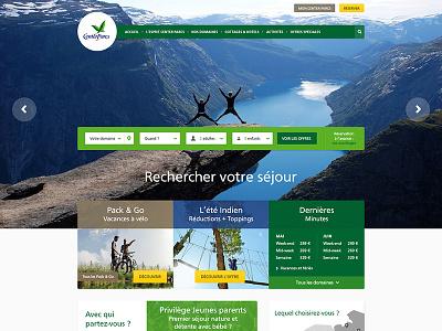 Center Parcs New Website center parcs ui interface vacances holidays nature