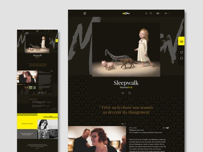 Artjaws landing page limited editions sales platform paris french art ux ui artjaws