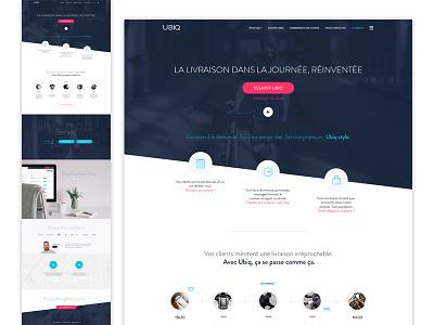 Ubiq landing page landing blue light homepage minimal clean ux ui