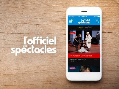 L'officiel des Spectacles - Appli iPhone offi officiel des spectacles
