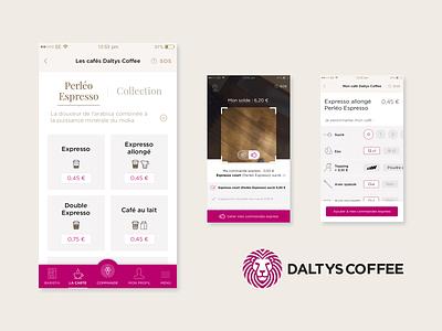 UX & UI Design for Daltys Coffee vending machine iot food daltys coffee design ux ui