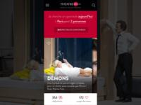 Théâtre Online Mobile app mobile app online booking ux ui