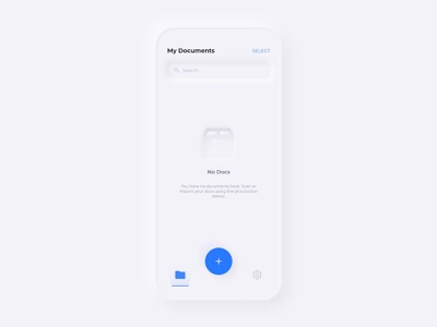 PDF Scanner App pdf mobile app design ios app design minimal 2020 design ios pdf scanner pdf app design app user interface user experience design dribbble skeuomorphism skeuomorph neomorphism skeumorphism 3d