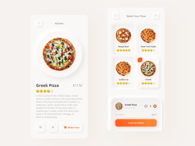 Pizza Delivery App food apps delicious pizza design pizza app design pizza app food delivery food app design 2020 pizza time 3d app mobile app design uidesign food app food pizza neomorphism skeumorphism design dribbble