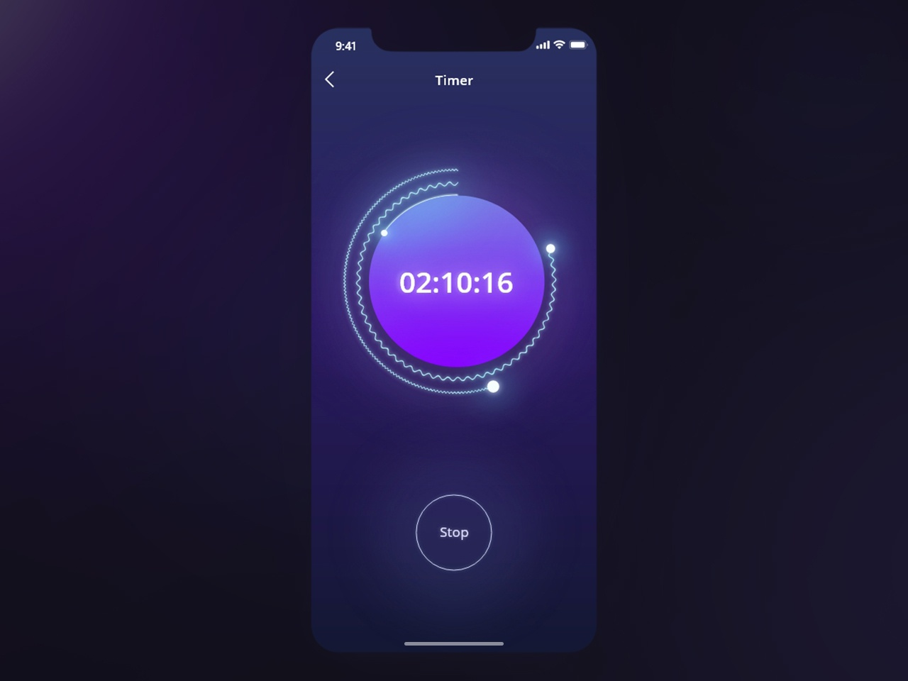 Daily UI - #014 Countdown Timer gradiant dailyui014 countdown timer blue purple 3d 2d vector ios color user interface app user experience art ui ux dribbble design dailyui
