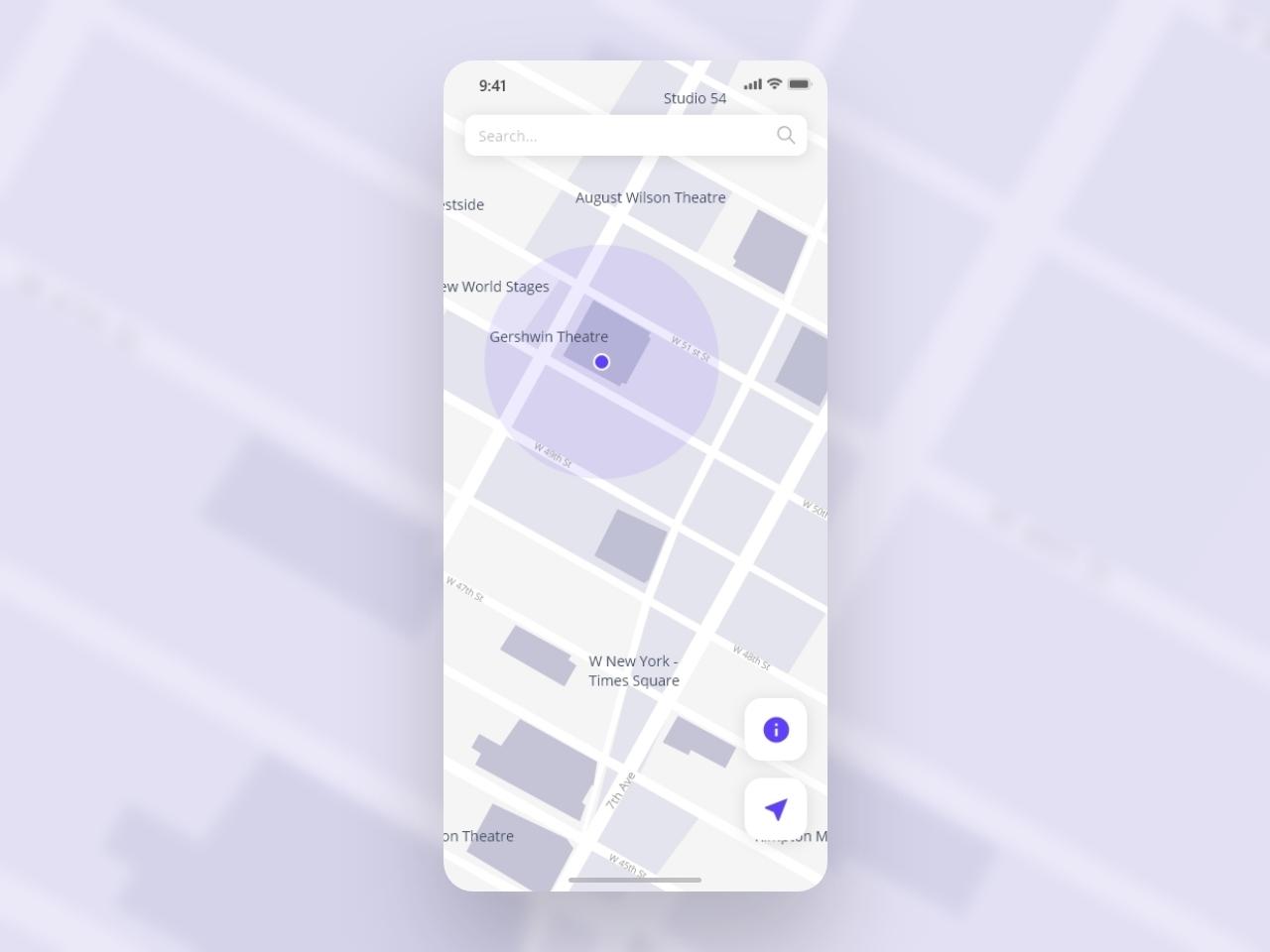 Daily UI - #029 Maps by Payam Daliri on Dribbble