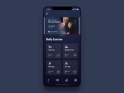 Daily UI - #045 Info Card web design workout info card illustration dark blue color iphone ios minimal dailyui app user interface art dribbble ux user experience ui 2d design