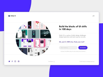 Daily UI - #100 Redesign Daily UI Landing Page