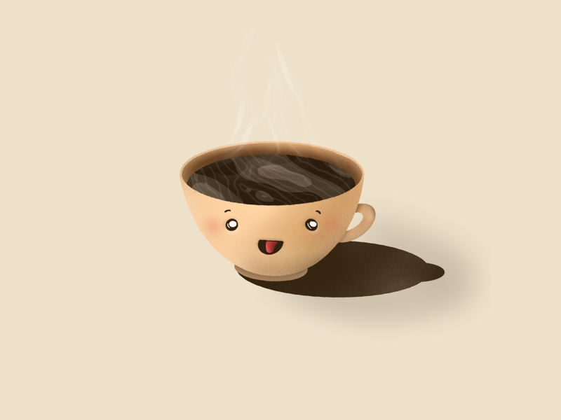 Coffee Time illustration cute cup of coffee shades coffee illustration graphic design illustrator 3d procreate 2d illustrations design dribbble
